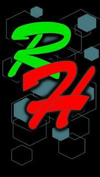 RAINBOW HEXAGONS poster