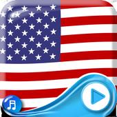American Flag Waving Wallpaper icon