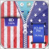 USA Flag zipper Unlocker icon