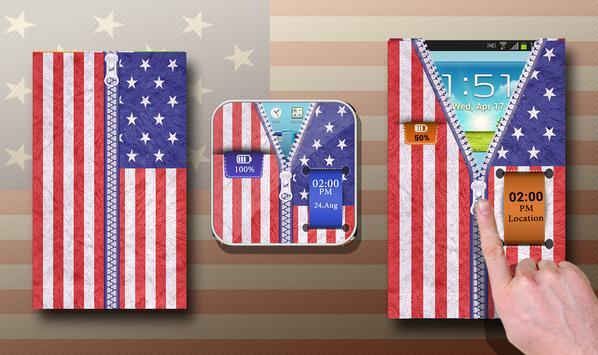 USA Flag zipper Unlocker poster