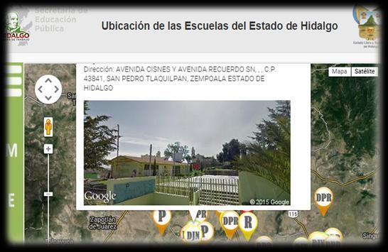 Ubicación Escuelas Hidalgo apk screenshot
