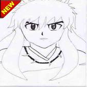 Sketch of uchicha anime icon