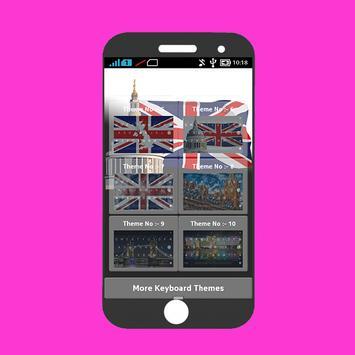 Uk British Keyboard Theme PRO apk screenshot