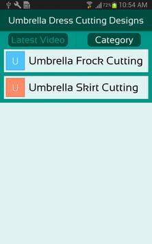 Umbrella Dress Cutting Designs apk screenshot