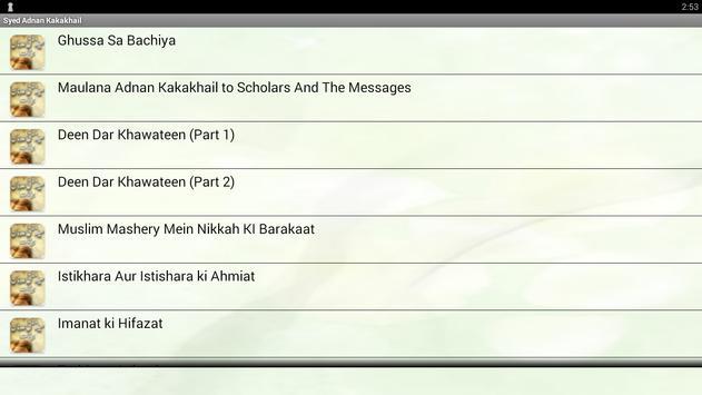 Syed Mufti Adnan Kaka Khail apk screenshot