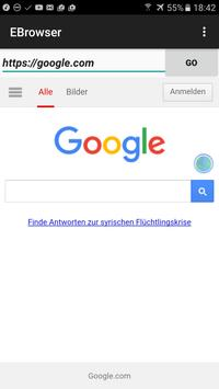 EBrowser apk screenshot