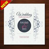The latest wedding invitation design icon