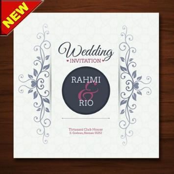 The latest wedding invitation design poster