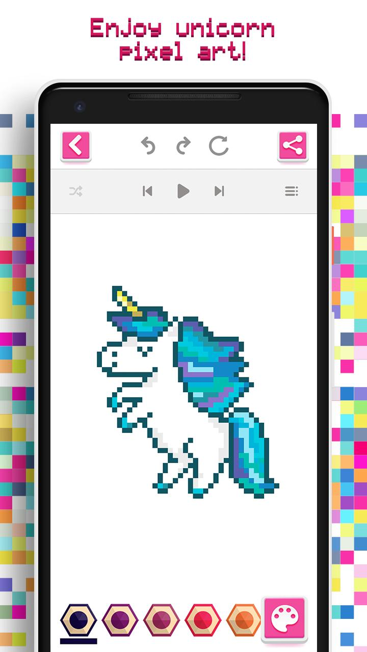 Unicornio Colorear Por Números Pixel Art For Android Apk