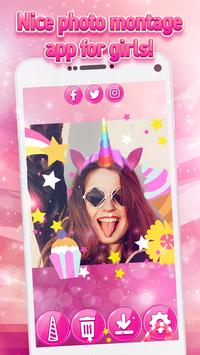 Unicorn Yourself - Pony Photo Stickers for Girls screenshot 4
