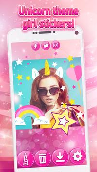 Unicorn Yourself - Pony Photo Stickers for Girls screenshot 5