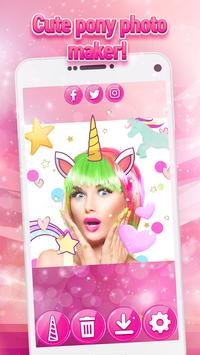 Unicorn Yourself - Pony Photo Stickers for Girls screenshot 6