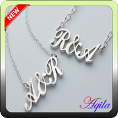 unique name necklace icon