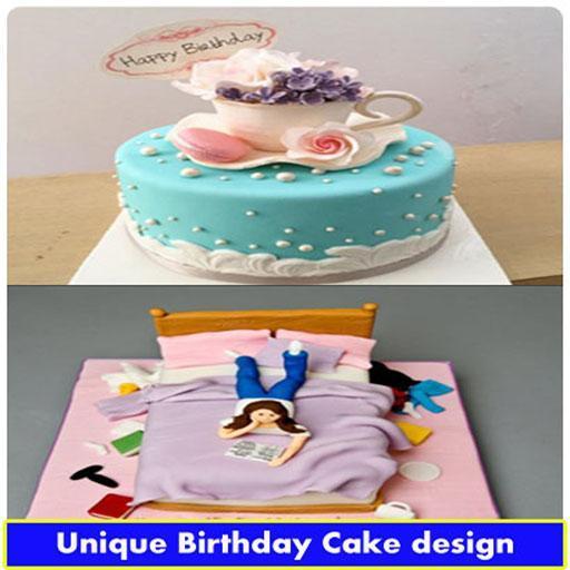 Pleasing Unique Birthday Cake Design For Android Apk Download Funny Birthday Cards Online Alyptdamsfinfo