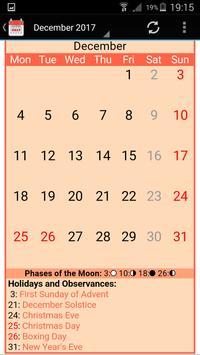 UK Calendar 2019 screenshot 2