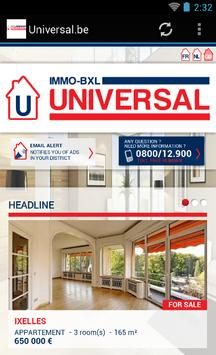 Universal.be immo à Bruxelles poster