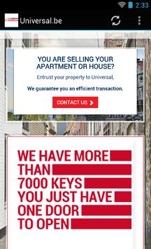 Universal.be immo à Bruxelles screenshot 1