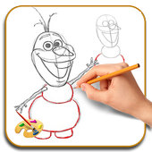 How to Draw Olaf icon