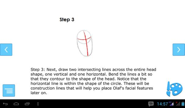 How to Draw Olaf poster