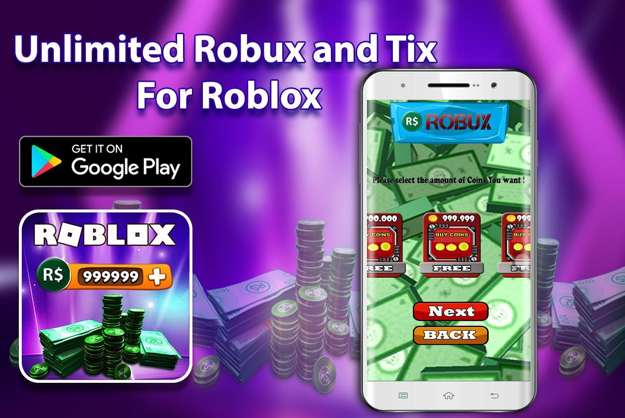 Unlimited of Robux and Tix For Roblox Prank for Android