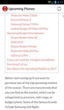Upcoming Phones screenshot 1