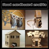 DIY craft used cardboard icon