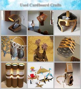 DIY craft used cardboard poster