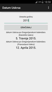 Datum Uskrsa apk screenshot