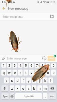 Cockroach on Screen – Funny Joke with Fake Bugs apk screenshot