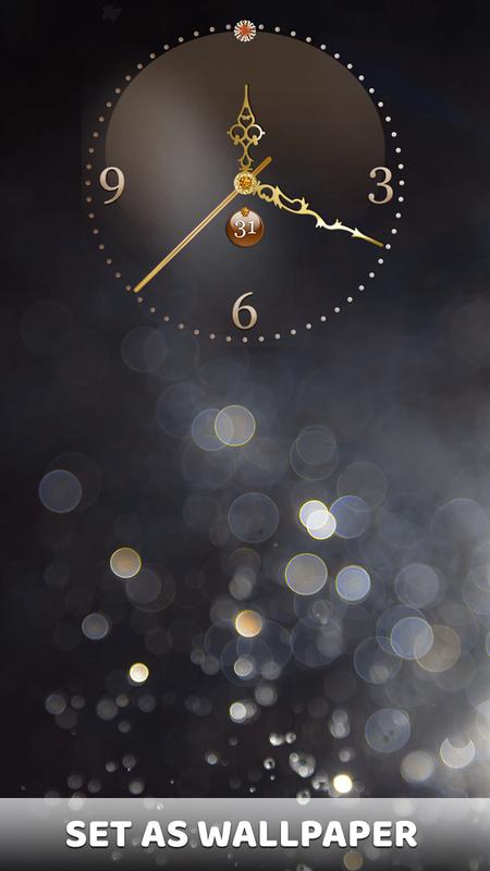 ... Gold Clock Live Wallpaper App: Analog Clock Widget screenshot 12 ...