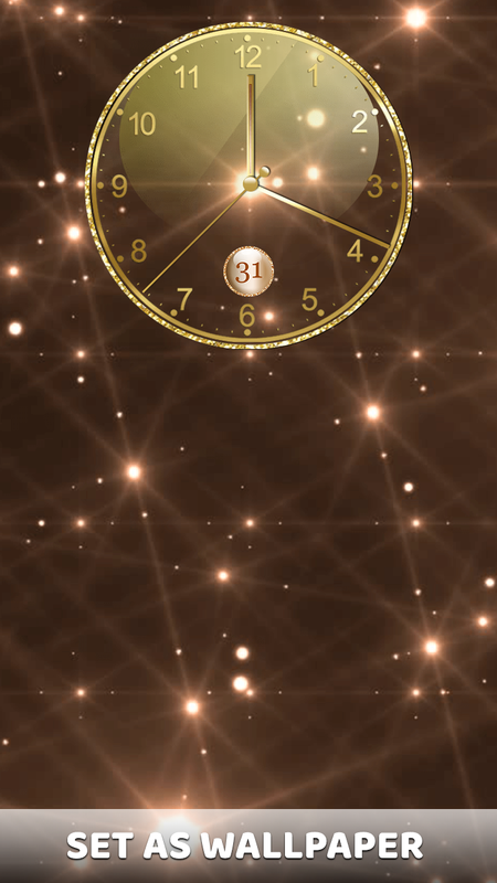 ... Gold Clock Live Wallpaper App: Analog Clock Widget screenshot 4 ...
