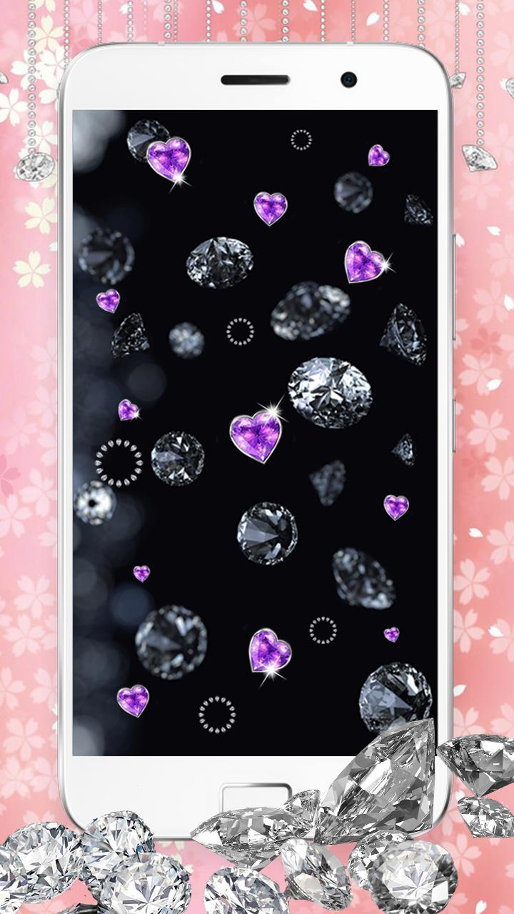 Android 用の 美しい ダイヤモンド キラキラ 壁紙 煌めく 動く 背景