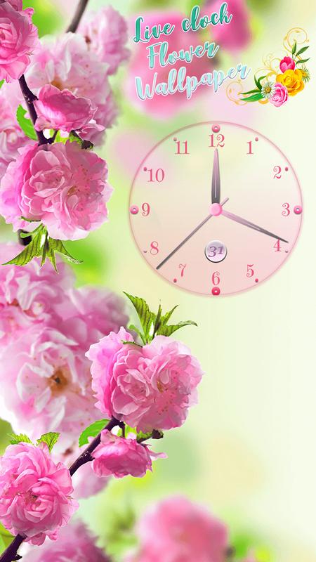 Flower Power Analog Clock Live Wallpaper App poster ...