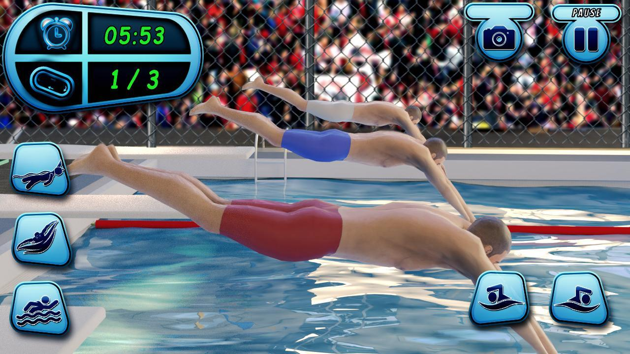 US Swimming Pool Race: Summer Sports Water Games for Android ...