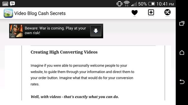 Video Blog Cash Secrets screenshot 1