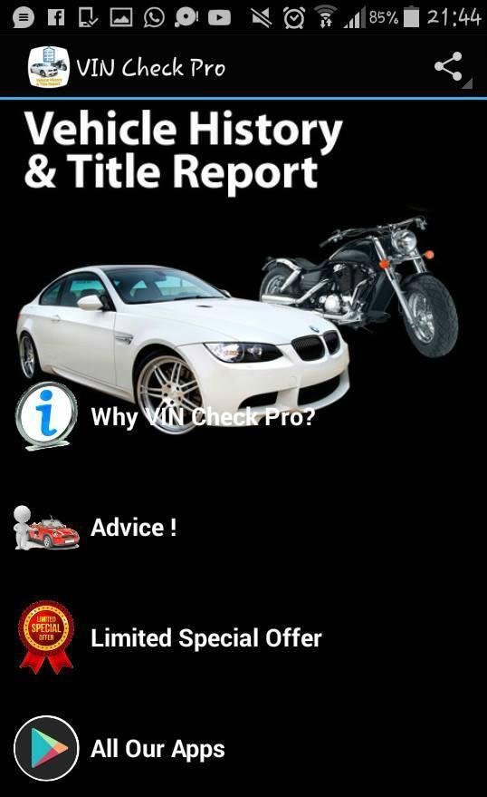 Auto Vin Check >> Vin Check Pro For Android Apk Download
