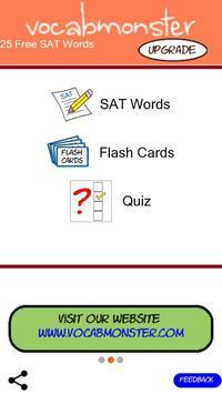 Vocabmonster 25 Free SAT Words poster