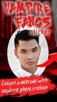 Vampire Fangs Photo Stickers poster