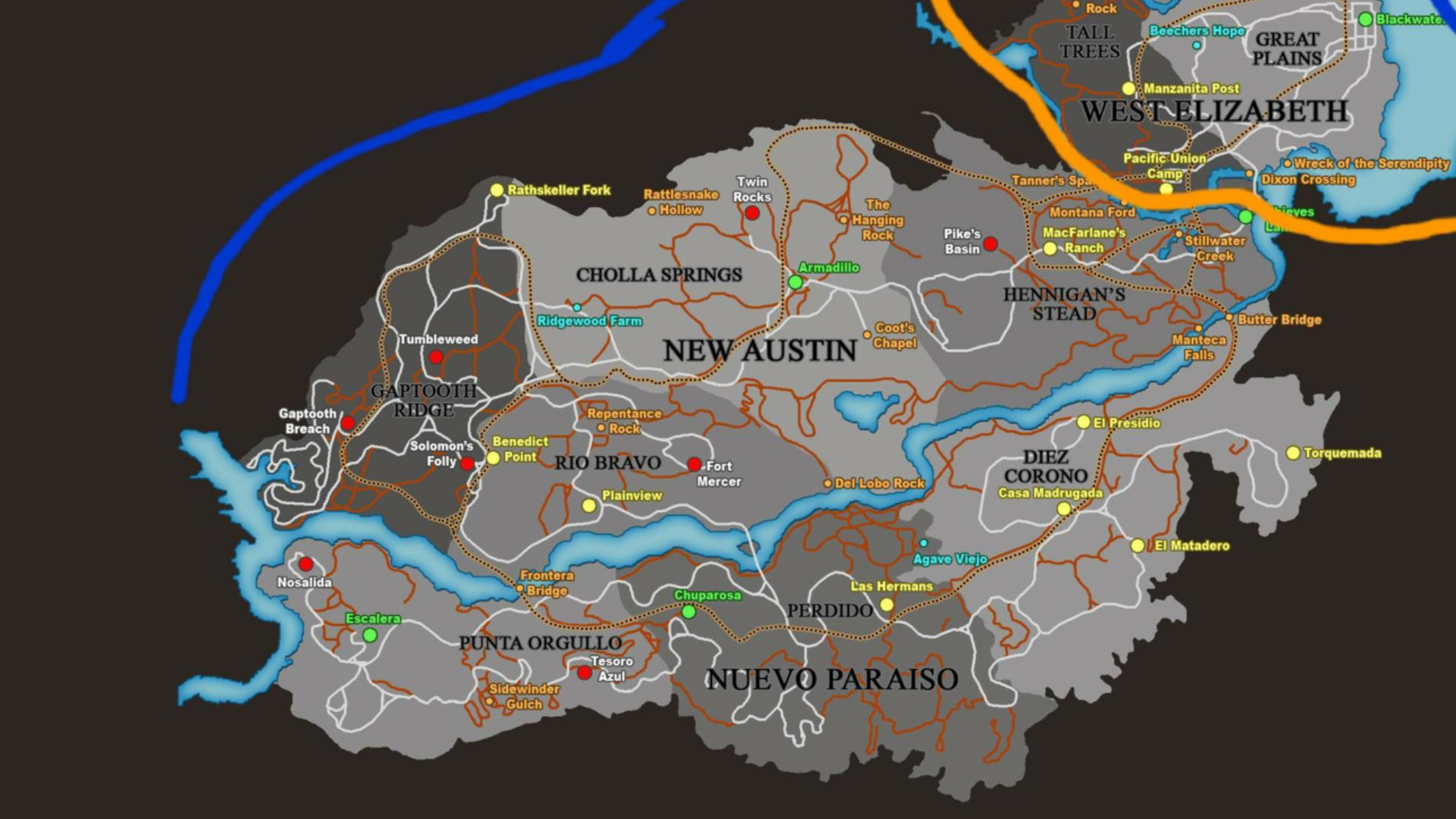 Red Dead Redemption 2 Map for Android - APK Download
