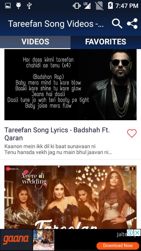 Tareefan Song Videos - Veere Di Wedding Songs for Android