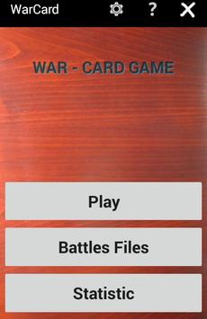 War Card Game apk screenshot