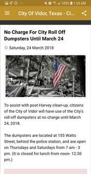 City Of Vidor Texas Official screenshot 1