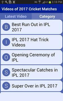 Videos of 2017 Cricket Matches screenshot 1