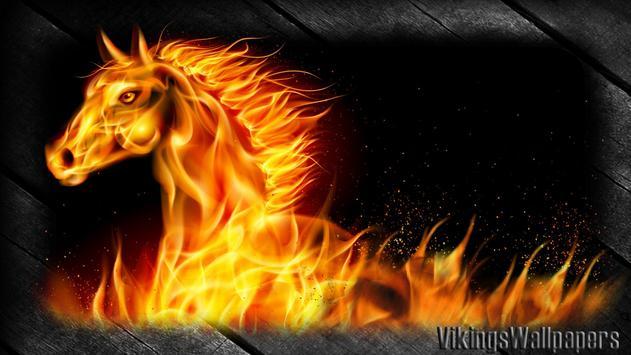 Horse Fire Wallpaper apk screenshot