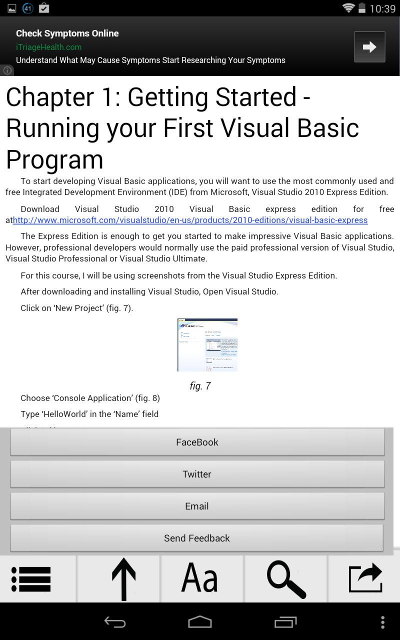 Learn Visual Basic in a day for Android - APK Download