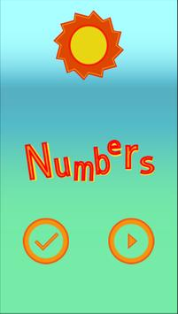 Spanish numbers for Kids poster