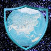 Earth in the porthole icon