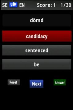 Vocabulary Trainer (SE/EN) Int apk screenshot