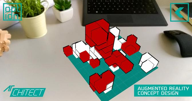 AR CHITECT - augmented reality [AR] 3D design poster
