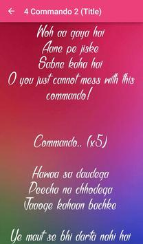 Commando 2 Songs Lyrics screenshot 13